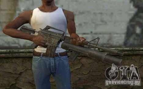 CAR-15 with XM-148 from Battlefield: Vietnam для GTA San Andreas третий скриншот