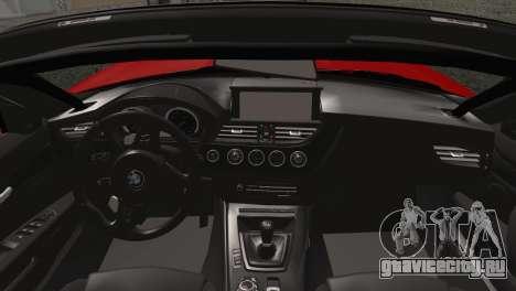 BMW Z4 sDrive28i 2012 Racing для GTA San Andreas вид сзади слева