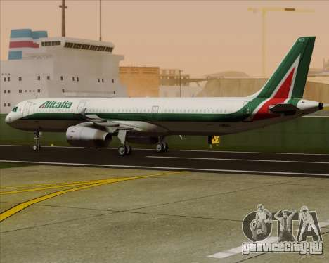 Airbus A321-200 Alitalia для GTA San Andreas вид изнутри