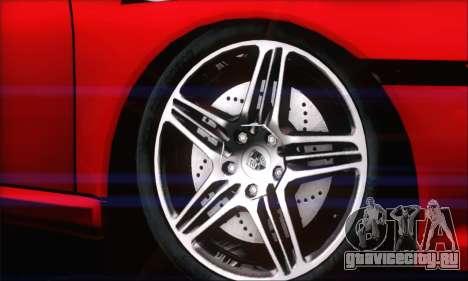 Porsche 997 Turbo Tunable для GTA San Andreas вид сзади слева