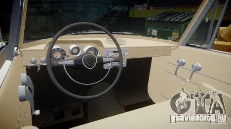 FSO Warszawa Ghia 1959 для GTA 4 вид изнутри