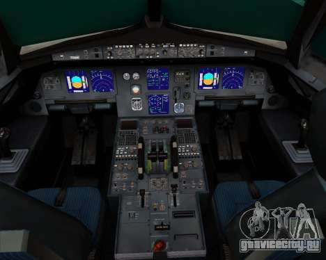 Airbus A321-200 Ural Airlines для GTA San Andreas салон