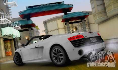 Audi R8 V10 Spyder 2014 для GTA San Andreas вид справа