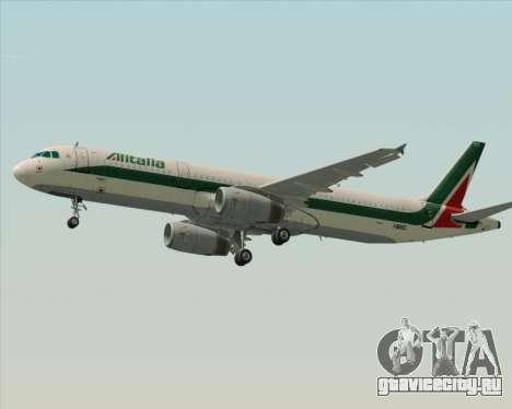 Airbus A321-200 Alitalia для GTA San Andreas двигатель