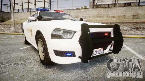 GTA V Bravado Buffalo LS Sheriff White [ELS] для GTA 4