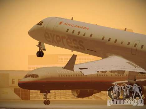 Bombardier CRJ-700 Air Canada Express для GTA San Andreas салон