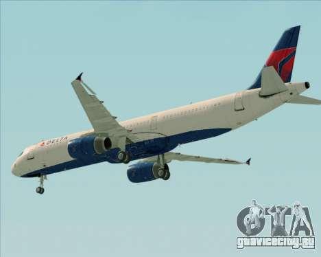 Airbus A321-200 Delta Air Lines для GTA San Andreas вид сбоку