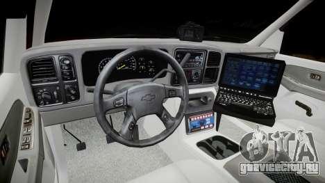 Chevrolet Suburban Undercover 2003 Black Rims для GTA 4 вид сзади