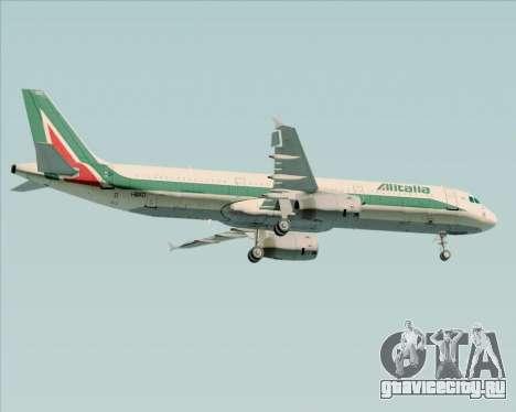 Airbus A321-200 Alitalia для GTA San Andreas вид сверху