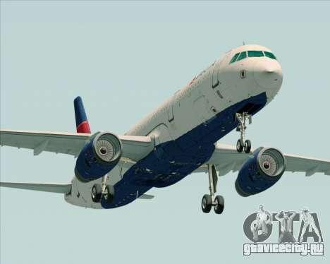 Airbus A321-200 Delta Air Lines для GTA San Andreas вид слева