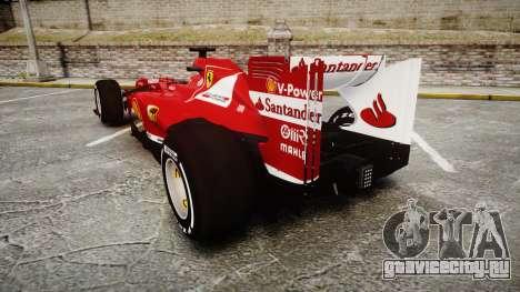 Ferrari F138 v2.0 [RIV] Alonso TMD для GTA 4 вид сзади слева
