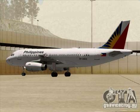 Airbus A319-112 Philippine Airlines для GTA San Andreas вид сбоку