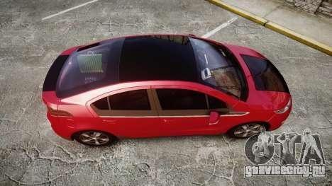 Chevrolet Volt 2011 v1.01 rims1 для GTA 4 вид справа