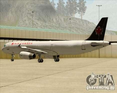 Airbus A321-200 Air Canada для GTA San Andreas вид справа
