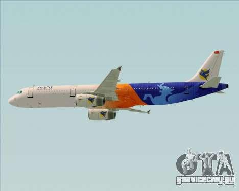 Airbus A321-200 Myanmar Airways International для GTA San Andreas вид снизу