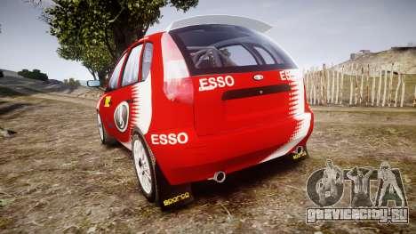 ВАЗ-1119 Калина RallyCross для GTA 4 вид сзади слева