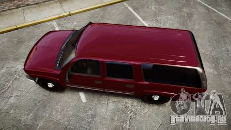Chevrolet Suburban Undercover 2003 Black Rims для GTA 4 вид справа