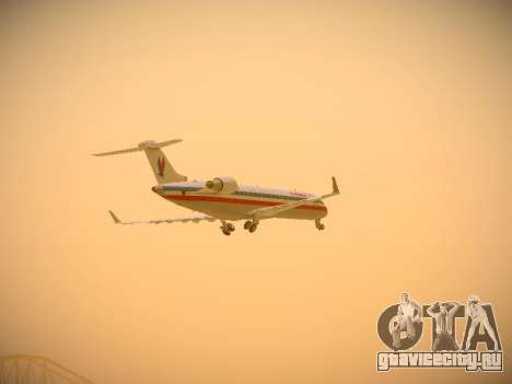 Bombardier CRJ-700 American Eagle для GTA San Andreas вид сверху