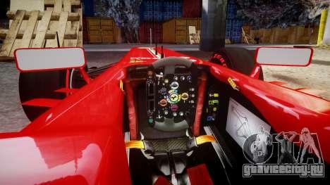 Ferrari F138 v2.0 [RIV] Alonso TSSD для GTA 4 вид изнутри