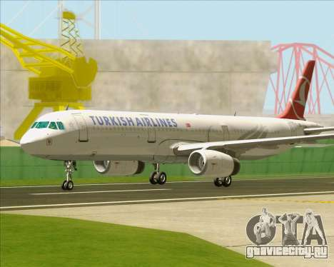 Airbus A321-200 Turkish Airlines для GTA San Andreas вид снизу