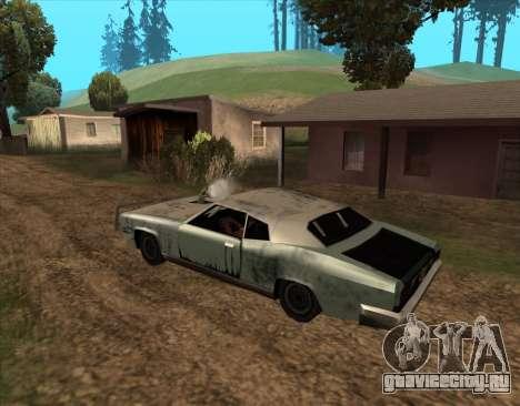 Постапокалиптический Buccaneer для GTA San Andreas вид сзади слева