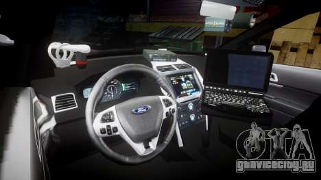 Ford Explorer 2013 Sheriff [ELS] Virginia для GTA 4 вид сзади