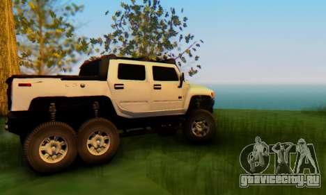 Hummer H6 Sut Pickup для GTA San Andreas вид изнутри
