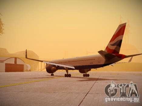 Boeing 757-236 British Airways для GTA San Andreas вид сзади слева