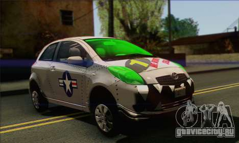 Toyota Yaris Shark Edition для GTA San Andreas вид справа
