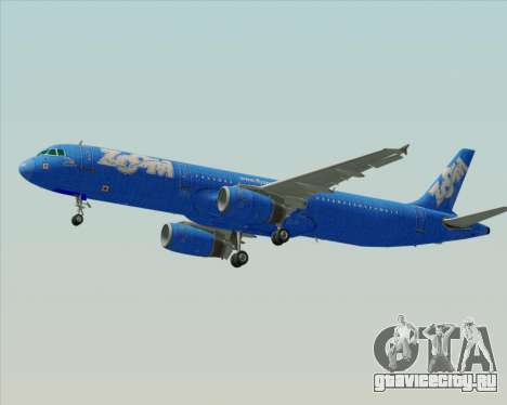 Airbus A321-200 Zoom Airlines для GTA San Andreas вид сзади