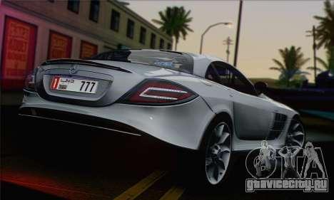 Mercedes-Benz SLR McLaren для GTA San Andreas вид слева