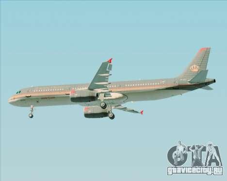 Airbus A321-200 Royal Jordanian Airlines для GTA San Andreas колёса