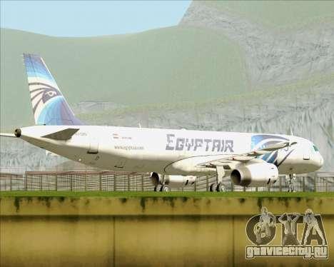 Airbus A321-200 EgyptAir для GTA San Andreas вид изнутри