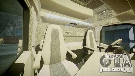 Volvo FH16 для GTA 4 вид изнутри