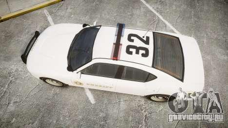 GTA V Bravado Buffalo LS Sheriff White [ELS] для GTA 4 вид справа
