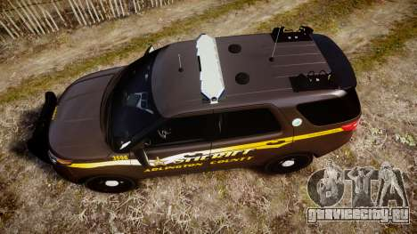 Ford Explorer 2013 Sheriff [ELS] Virginia для GTA 4 вид справа