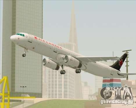 Airbus A321-200 Air Canada для GTA San Andreas двигатель