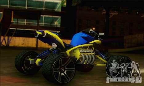 ATV Quad для GTA San Andreas вид слева