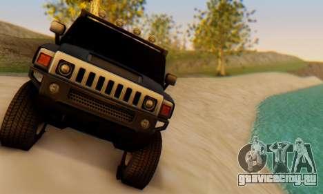 Hummer H6 Sut Pickup для GTA San Andreas вид сзади