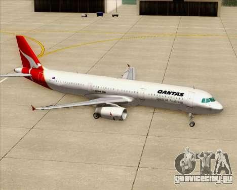 Airbus A321-200 Qantas для GTA San Andreas колёса