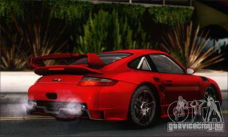Porsche 997 Turbo Tunable для GTA San Andreas вид сзади