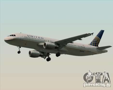 Airbus A320-232 United Airlines для GTA San Andreas вид справа