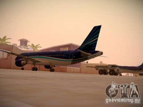 Airbus A320-214 Azerbaijan Airlines AZAL для GTA San Andreas вид справа