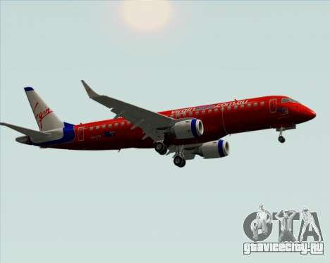 Embraer E-190 Virgin Blue для GTA San Andreas вид сзади