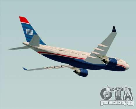 Airbus A330-200 US Airways для GTA San Andreas вид сбоку