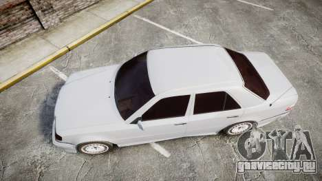 Mercedes-Benz E500 1998 Tuned Wheel White для GTA 4 вид справа