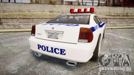 Bravado Buffalo Police для GTA 4 вид сзади слева