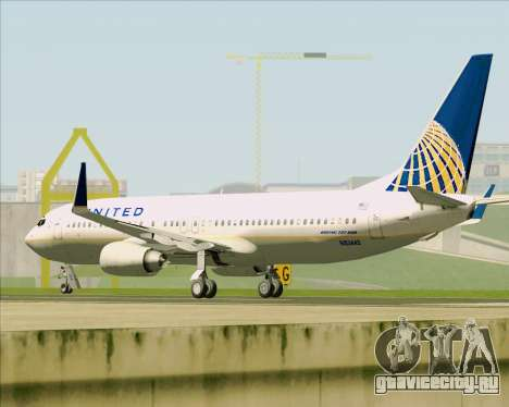 Boeing 737-824 United Airlines для GTA San Andreas вид снизу