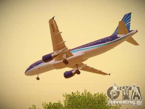 Airbus A320-214 Azerbaijan Airlines AZAL для GTA San Andreas вид снизу