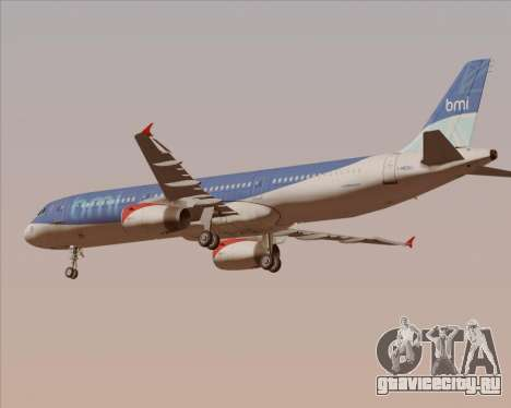 Airbus A321-200 British Midland International для GTA San Andreas двигатель